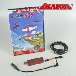 aerofly RC8 , DVD, mit Interface/Adap. (Spektrum)
