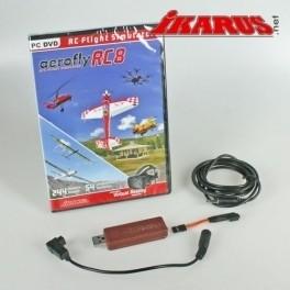 aerofly RC8 , DVD, mit Interface für Futaba