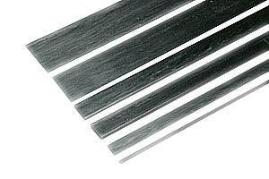 Kohlefaser-Flachstab 3 x 0.5 x 1000mm