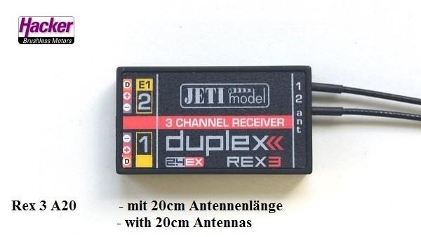 JETI Duplex 2.4EX Empfänger REX3A20