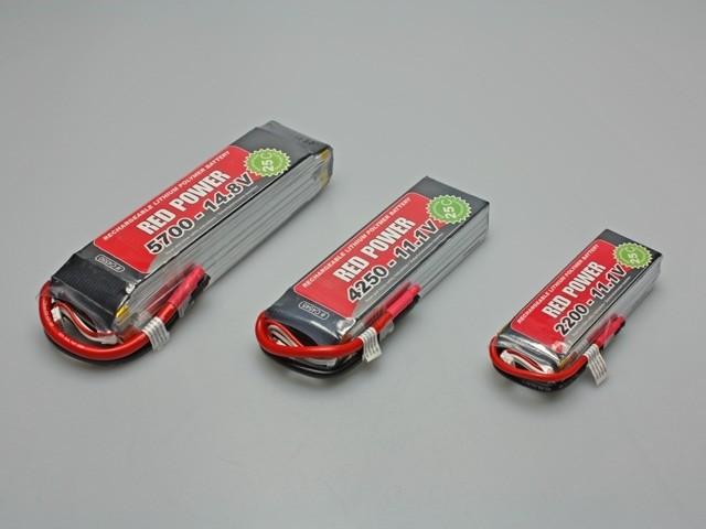 RED Power Lipo 2S 7,4V 2200 mAh 30C