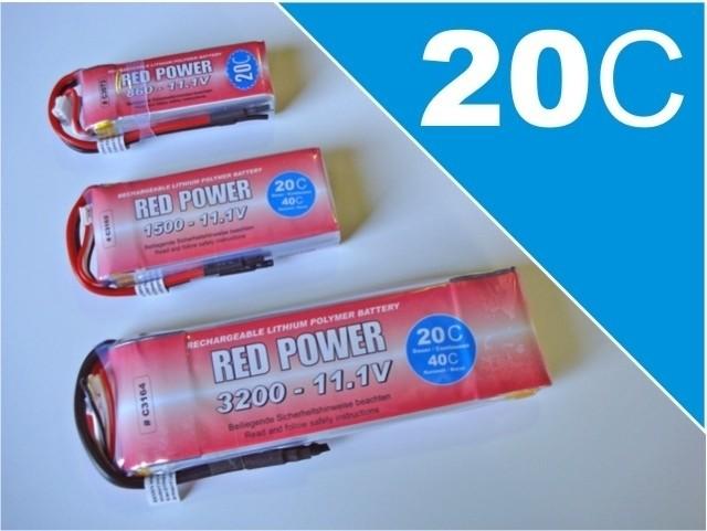 RED Power Lipo 3S 11,1V 1800 mAh 20C