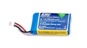 E-Flite Lipo 2S 7,4V 300 mAh 35C, Blade 130X