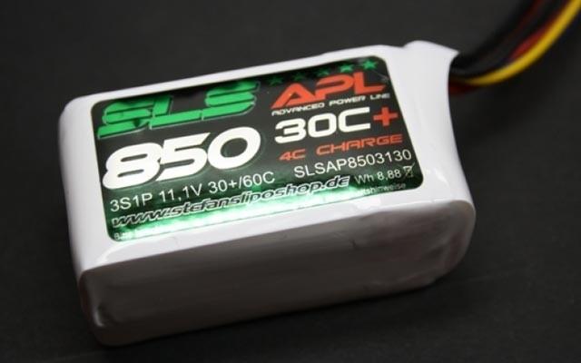 SLS Lipo Akku 3S1P 11,1V 850mAh 30C+