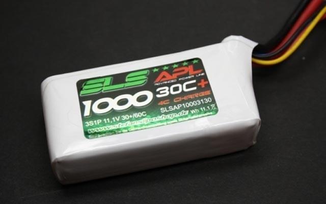 SLS Lipo Akku 3S1P 11,1V 1000mAh 30C+